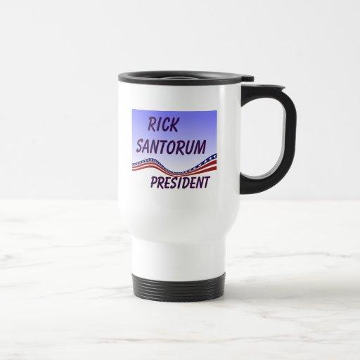 Rick Santorum President Banner Coffee Mug