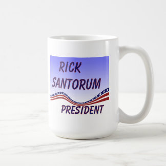 Rick Santorum President Banner Coffee Mugs