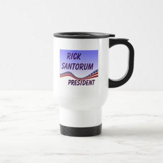 Rick Santorum President Banner Travel Mug