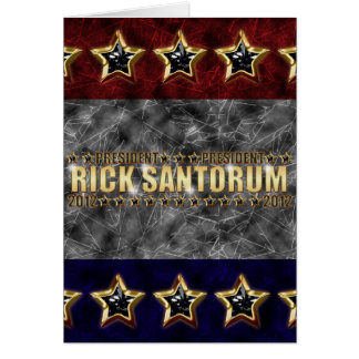 Rick Santorum Stars and Stripes. Card