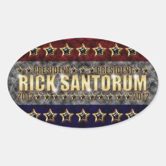 Rick Santorum Stars and Stripes. Oval Sticker