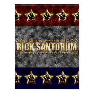 Rick Santorum Stars and Stripes. Postcard