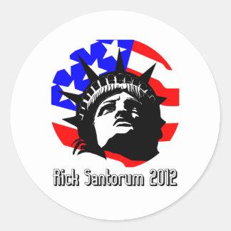 rick santorum round sticker