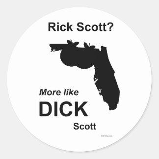 Rick Scott Dick Scott Classic Round Sticker