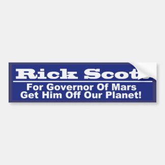 Rick Scott for Governor of Mars Car Bumper Sticker