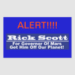 Rick Scott for Governor of Mars Rectangle Stickers