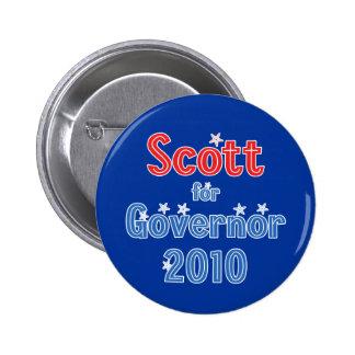 Rick Scott para el diseño de la estrella del gober Pin Redondo 5 Cm