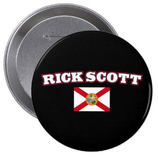 Rick Scott para el gobernador de la Florida Pin Redondo 10 Cm