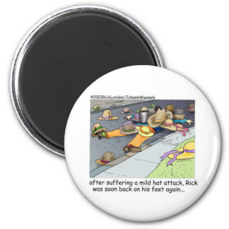 Rick Suffers A Hat Attack Cartoon Gifts & Tees Refrigerator Magnets