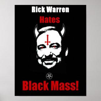 Rick Warren odia el poster total negro