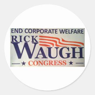 Rick Waugh for Congress Sticker