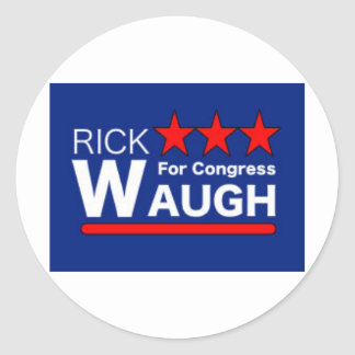 Rick Waugh for Congress - The People's Voice Classic Round Sticker