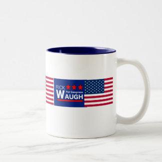 Rick Waugh for Congress Two-Tone Coffee Mug