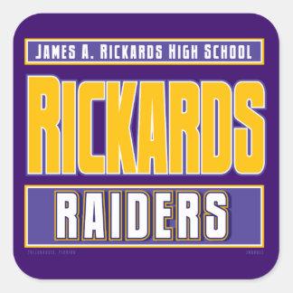 RICKARDS HIGH SCHOOL RAIDERS SQUARE STICKER