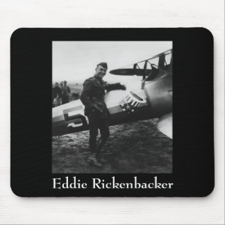 Rickenbacker Posing With His Plane Mouse Pad