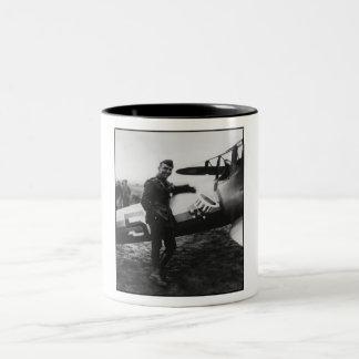 Rickenbacker Posing With His Plane Mug