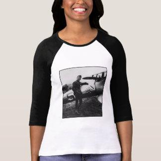 Rickenbacker Posing With His Plane Tshirts