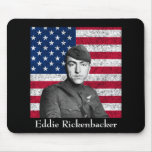 Rickenbacker y la bandera americana tapete de ratón