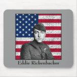 Rickenbacker y la bandera americana tapetes de raton