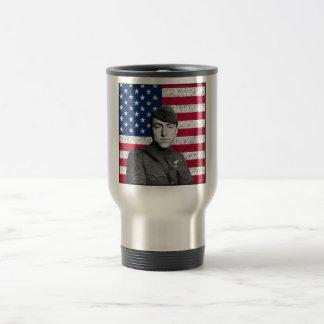 Rickenbacker y la bandera americana tazas