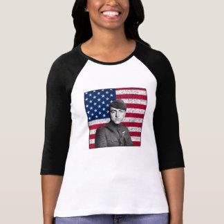 Rickenbacker y la bandera de los E.E.U.U. Camisetas