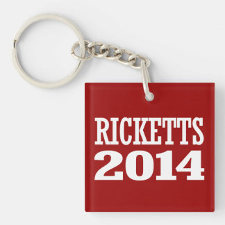 RICKETTS 2014 Double-Sided SQUARE ACRYLIC KEYCHAIN