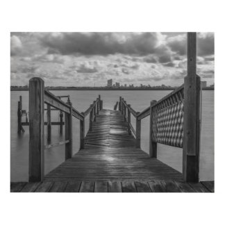 Rickety Dock On The Bay Wall Panel