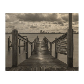 Rickety Dock On The Bay Wood Art