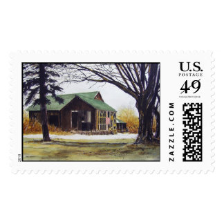 Rickety Old Barn-stamps Postage