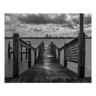 Rickety Old Dock On The Bay Poster