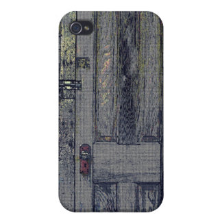 Rickety Wooden Shed Door iPhone 4 Covers