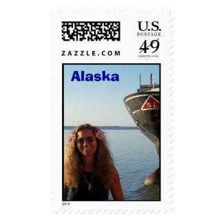 Ricki in Alaska Stamp