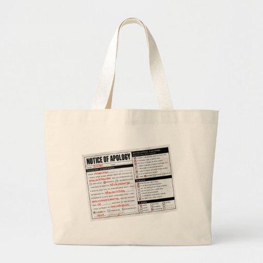Rickroll Astley Apology Notice Canvas Bag