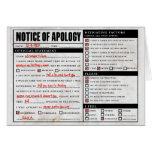 Rickroll Astley Apology Notice Card