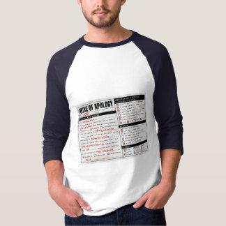 Rickroll Astley Apology Notice Tee Shirt