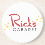 Rick's Cabaret Sandstone Coaster