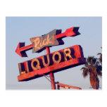 Ricks Liquor Vintage Sign Postcard
