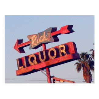 Ricks Liquor Vintage Sign Postcard