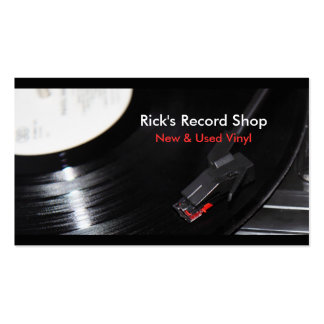 Rick's Record Shop Double-Sided Standard Business Cards (Pack Of 100)