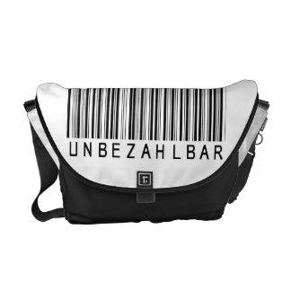 """Rickshaw bolsa """"barra código black IMPAGABLE """" Bolsa De Mensajería"""