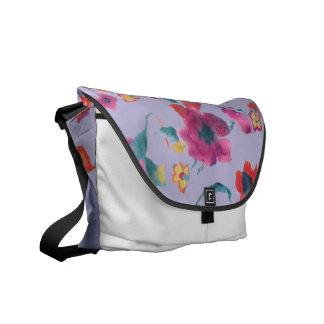 Rickshaw Floral Bag by vivsart Courier Bag