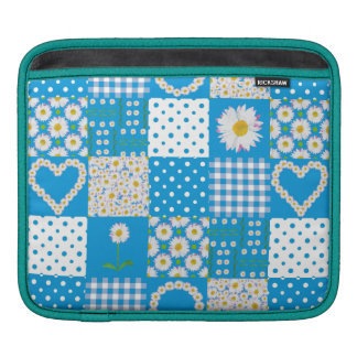 Rickshaw iPad Sleeve: Daisy Chains, Faux Patchwork Sleeve For iPads