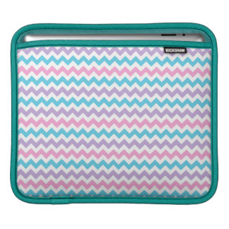 Rickshaw iPad Sleeve, Pastel Color Chevrons Sleeve For iPads