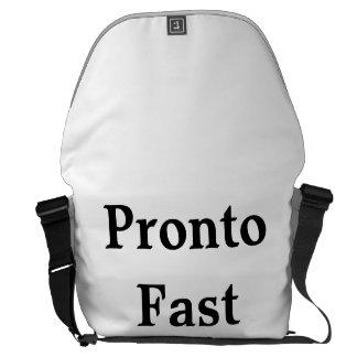 """Rickshaw Large Messenger Bag with """"Fast Pronto"""""""