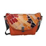 Rickshaw Messenger Bag orange mosaic