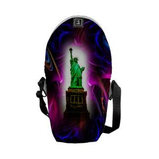 Rickshaw messenger bag - Statue of Liberty