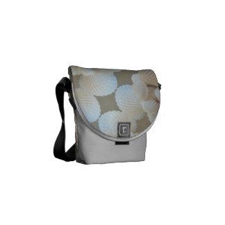 Rickshaw Messenger Bag, Sunny Summer Sea Shells Messenger Bag