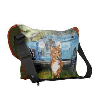 "Rickshaw Messenger Bag: ""Tri -Trucks"""