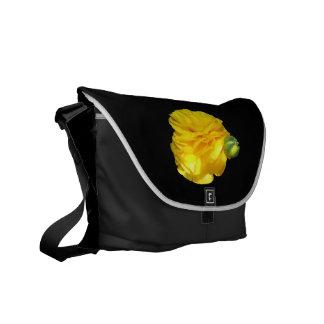 Rickshaw Messenger Bag: Yellow Ranunculus Design Courier Bag