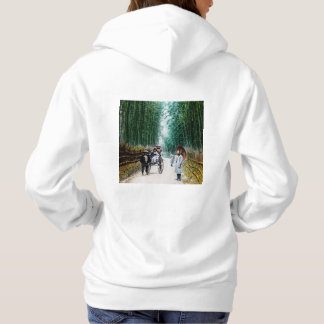 Rickshaw on the Road to Kyoto Japan Vintage Hoodie